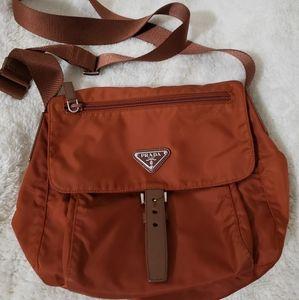❣ Prada Nylon Sling Bag 🧡💜